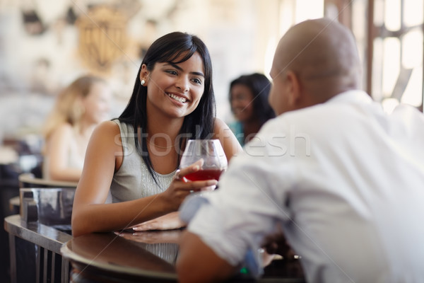 man and woman dating at restaurant Stock photo © diego_cervo