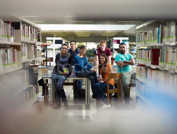 portrait of students in library Stock photo © diego_cervo