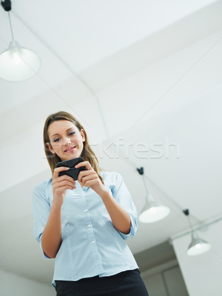 woman reading emails Stock photo © diego_cervo