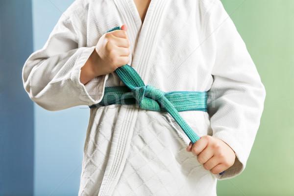 Judo çocuk spor salonu erkek çocuk Stok fotoğraf © diego_cervo