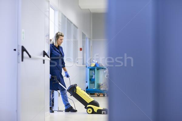 Femmes travail professionnels Homme propre lavage Photo stock © diego_cervo