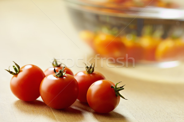 red tomatoes on kitchen table Stock photo © diego_cervo