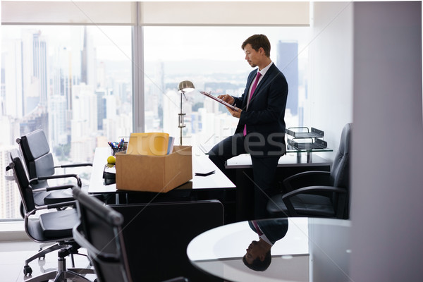 Just Hired Executive Business Man Moves To New Office Stock photo © diego_cervo