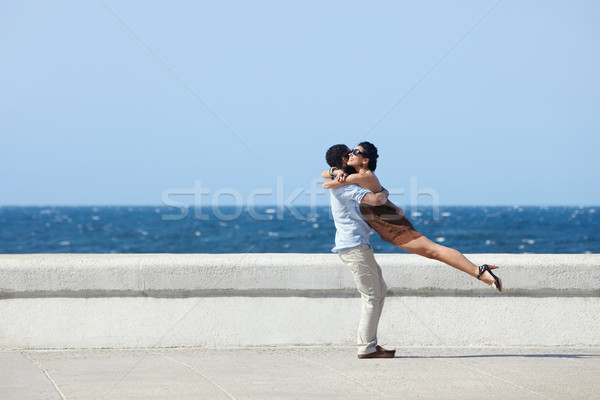 happy hug between beautiful wife and husband Stock photo © diego_cervo