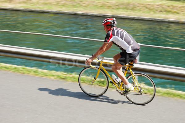 senior cyclist Stock photo © diego_cervo