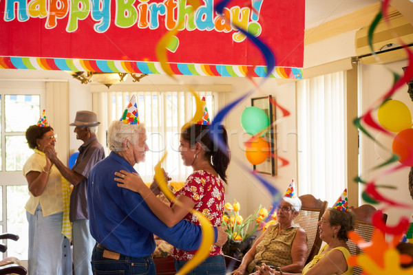 People Enjoy Birthday Party With Friends In Geriatric Hospital Stock photo © diego_cervo