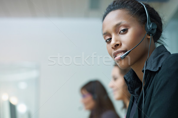 women working in call center Stock photo © diego_cervo