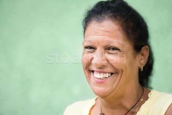 Zdjęcia stock: Portret · szczęśliwy · starych · hiszpańskie · uśmiechnięta · kobieta · kamery