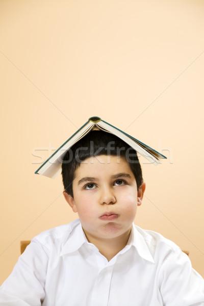 Enfants peu garçon s'ennuie enfant triste Photo stock © diego_cervo