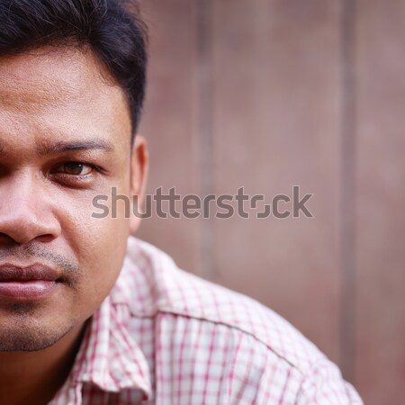 Photo stock: Adulte · asian · homme · regarder · caméra · portrait