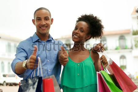 Portrait couple Shopping Panama ville Photo stock © diego_cervo