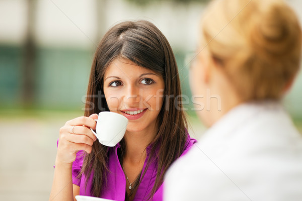businesswomen drinking coffee Stock photo © diego_cervo
