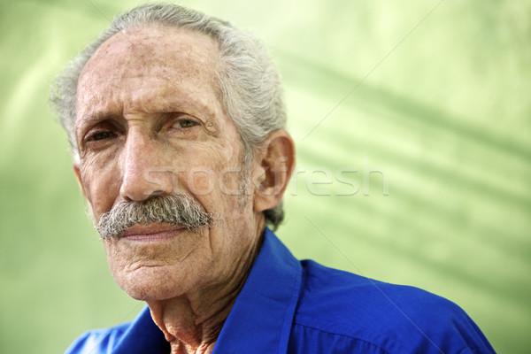 Zdjęcia stock: Portret · poważny · starych · hiszpańskie · człowiek · patrząc