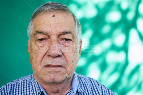 Anxious Latino Senior Man With Sad Worried Face Expression Stock photo © diego_cervo