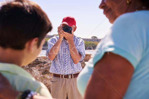 Famille vacances Cuba Grandpa touristiques Photo stock © diego_cervo