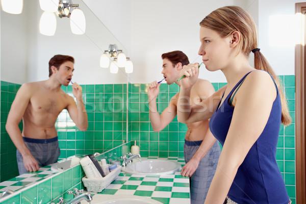 Marito moglie bagno Foto d'archivio © diego_cervo