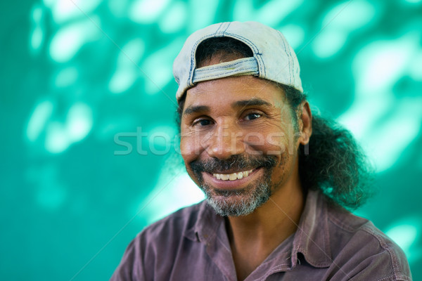 Smiling People Portrait Of Hispanic Man With Goatee Laughing Stock photo © diego_cervo