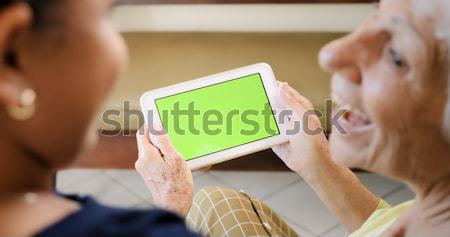 Chroma Key Tablet Monitor With Gay People Using Internet Stock photo © diego_cervo