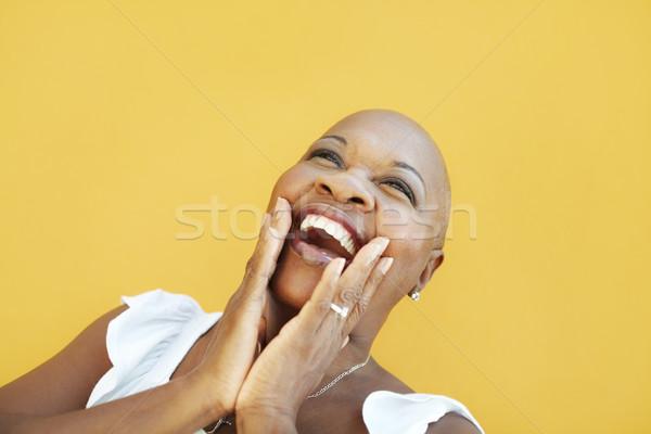 Maturo african donna sorridente gioia ritratto 50 anni Foto d'archivio © diego_cervo