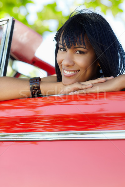 beautiful woman in cabriolet car Stock photo © diego_cervo