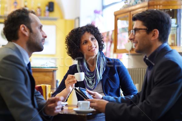 Equipo de negocios de trabajo potable café expreso personas Foto stock © diego_cervo