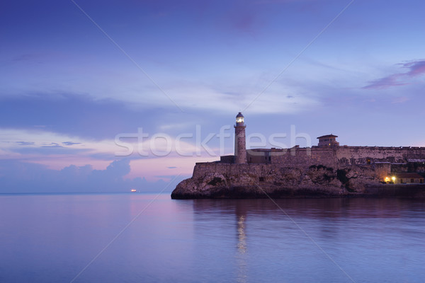 Cuba, Caribbean Sea, la habana, havana, morro, lighthouse Stock photo © diego_cervo