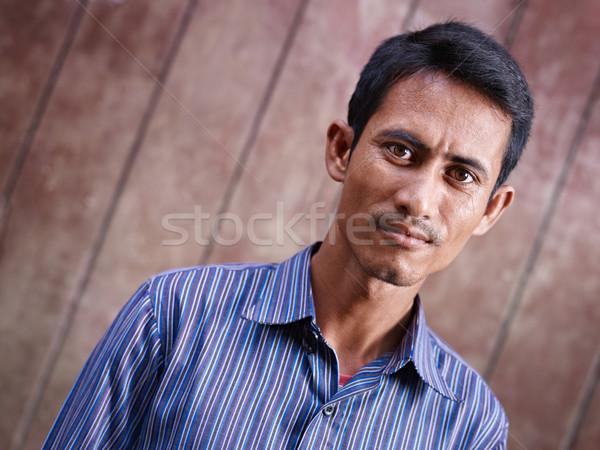 Foto d'archivio: Ritratto · adulto · asian · uomo · guardando · fotocamera