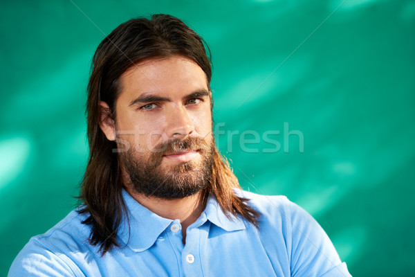 Depressed Young Hispanic Man With Sad Worried Face Expression Stock photo © diego_cervo