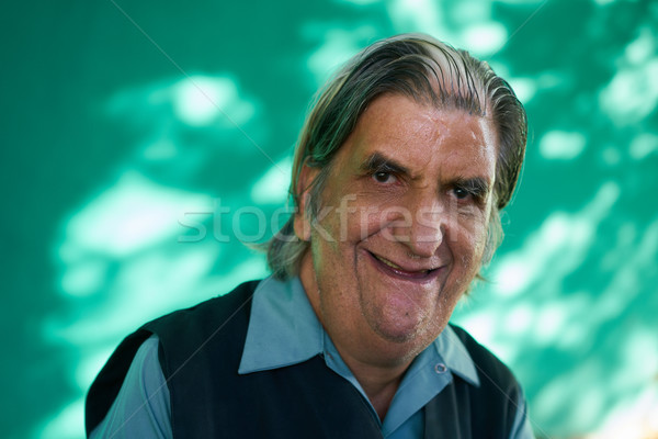 Real People Portrait Funny Senior Man Laughing At Camera Stock photo © diego_cervo