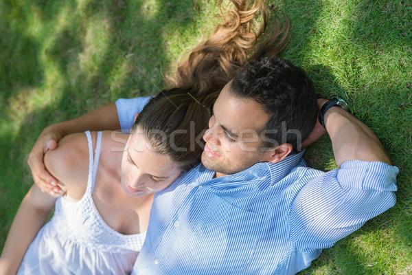 Stockfoto: Vriendje · vriendin · liefde · datum · gelukkig