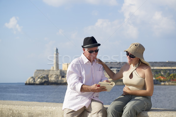 Tourism and old people traveling, seniors having fun on vacation Stock photo © diego_cervo