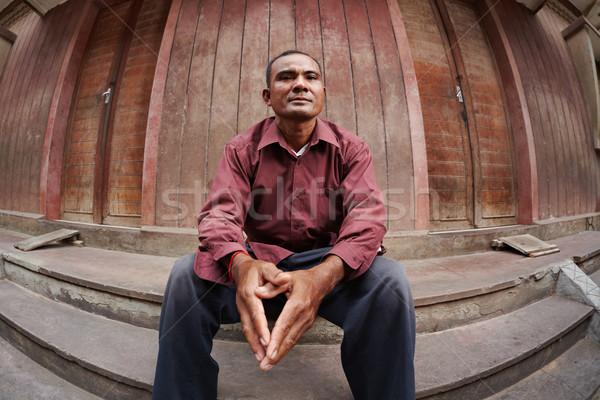 Portré aggódó felnőtt ázsiai férfi szegény Stock fotó © diego_cervo