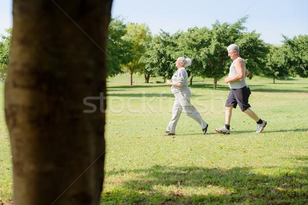 Foto stock: Activo · altos · personas · correr · ciudad · parque
