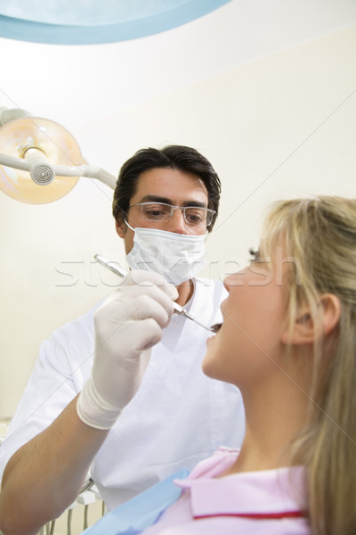Stock photo: dentist