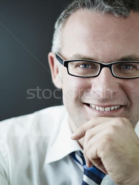 Photo stock: Affaires · souriant · caméra · portrait · maturité