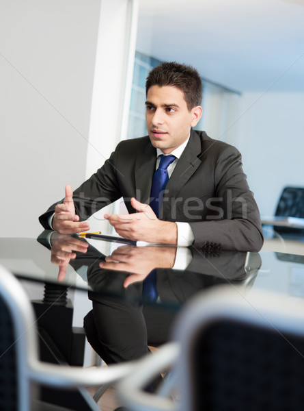 businessman in meeting room Stock photo © diego_cervo