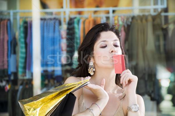 ショッピング 成人 イタリア語 女性 ショッピングバッグ ストックフォト © diego_cervo