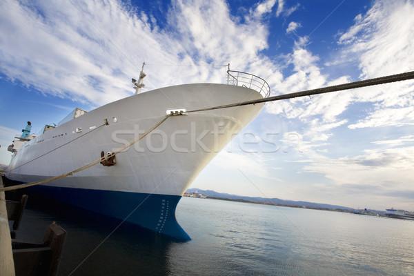Zdjęcia stock: Statek · towarowy · przemysłu · commerce · wygaśnięcia · morza · łodzi