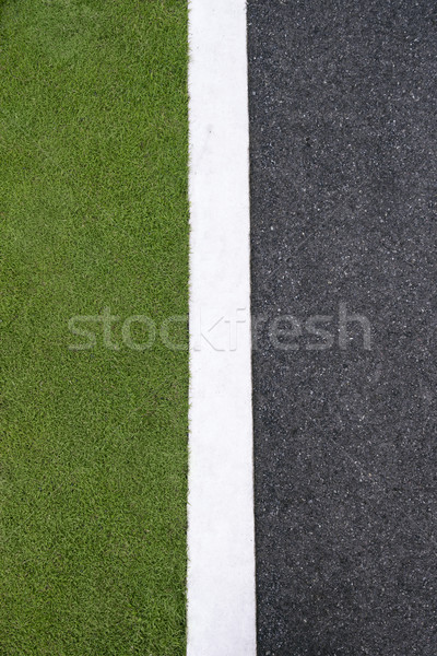 high angle view of asphalt of street and grass  Stock photo © diego_cervo