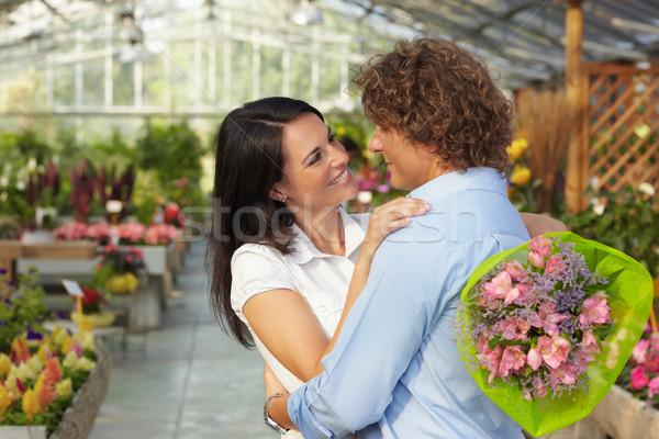 пару цветок питомник взрослый Сток-фото © diego_cervo