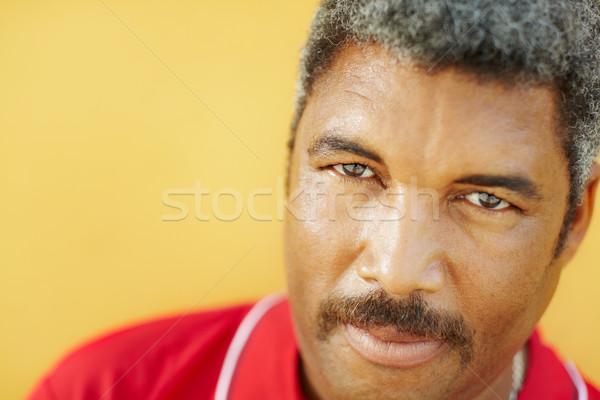 Ritratto ispanico uomo maturo fotocamera 50 anni Foto d'archivio © diego_cervo