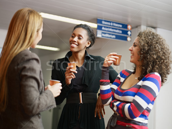 Stock photo: women having coffee break