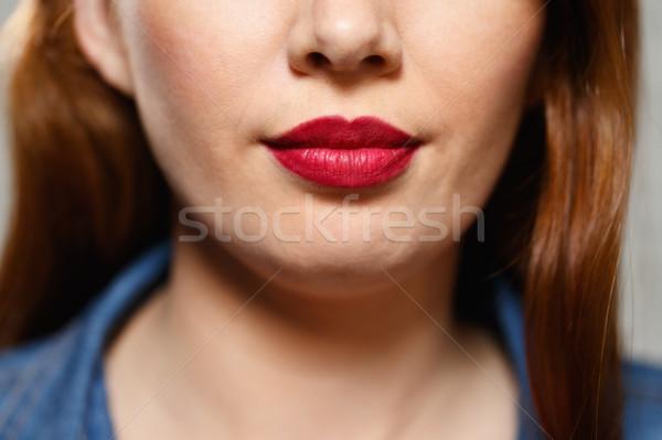Gezichtsuitdrukkingen jonge vrouw portret Stockfoto © diego_cervo