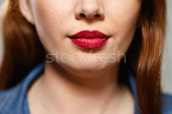 Expressions faciales jeunes femme portrait Photo stock © diego_cervo