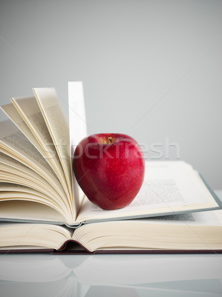 red apple on books Stock photo © diego_cervo