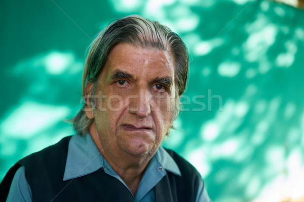 People Emotions Sad Worried Depressed Hispanic Man From Cuba Stock photo © diego_cervo