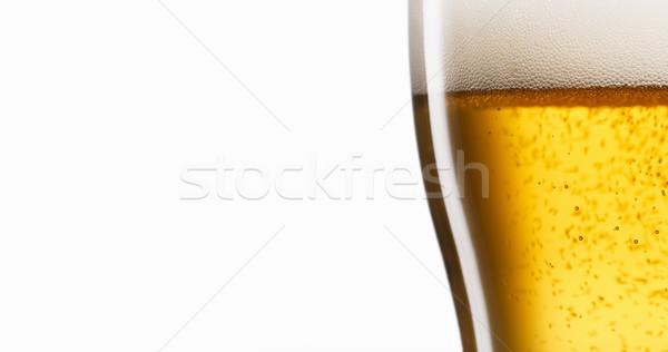 Célébration froid bière verre bonheur Photo stock © diego_cervo