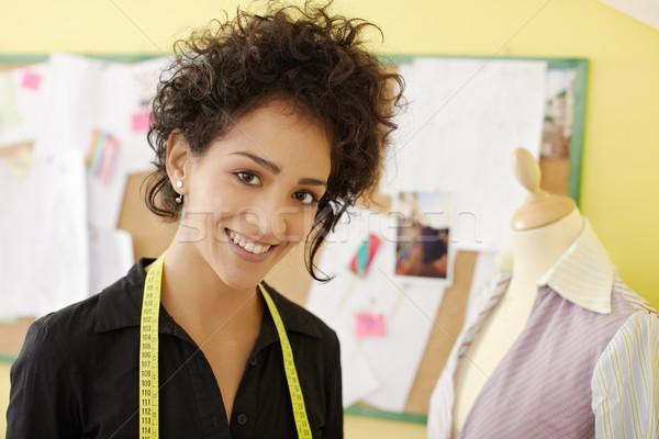 Stockfoto: Vrouw · werken · fashion · design · studio · portret · jonge