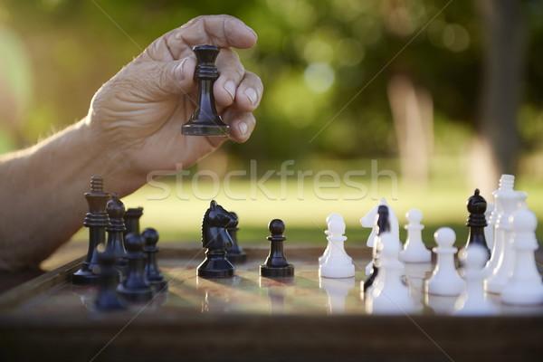 Ativo aposentados pessoas senior homem jogar Foto stock © diego_cervo