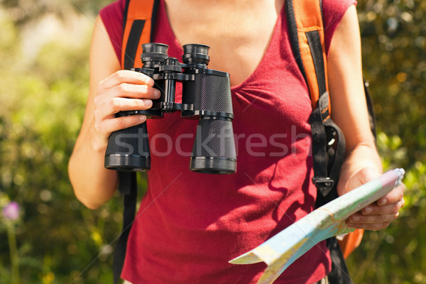 Stock photo: woman hiking